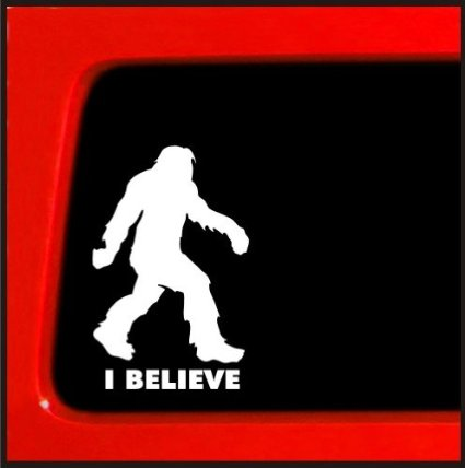 Sasquatch Car Decal
